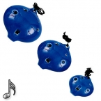 Blue Ceramic Ocarina (set)